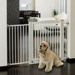 View Image 1 of One-Touch Wood Pet Gate - Origami White