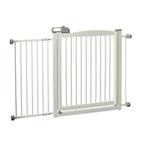 View Image 2 of One-Touch Wood Pet Gate - Origami White