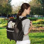View Image 1 of On-The-Go Rolling Backpack Pet Carrier - Black