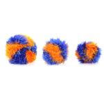 View Image 2 of OoMaLoo Handmade Ball Dog Toy - Blue and Orange