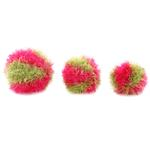 View Image 2 of OoMaLoo Handmade Ball Dog Toy - Pink and Green