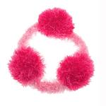 View Image 1 of OoMaLoo Handmade Pull Ring Dog Toy - Pink with Light Pink Ring