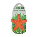 View Image 1 of Organic Loofah Dental Dog Toy - Starfish