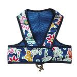 View Image 1 of Original Cloak & Dawggie Step-N-Go Mesh Lined Dog Harness - Navy Floral