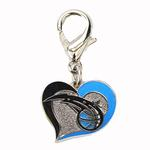 View Image 1 of Orlando Magic Swirl Heart Dog Collar Charm