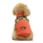 View Image 3 of Aztec Fleece Dog Jacket by Dobaz - Orange