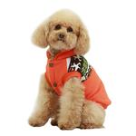 View Image 4 of Aztec Fleece Dog Jacket by Dobaz - Orange