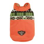 View Image 1 of Aztec Fleece Dog Jacket by Dobaz - Orange