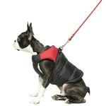 View Image 7 of Padded Dog Harness Vest by Gooby - Red/Black