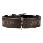 View Image 1 of Palermo Leather Dog Collar by HUNTER - Dark Brown