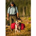 View Image 4 of Palisades Multi-Day Dog Pack by RuffWear - Red Currant