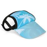 View Image 1 of Palm Tree Blue Dog Visor by Playa Pup