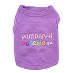 View Image 2 of Pampered Poochie Dog Tank by Parisian Pet - Purple