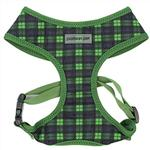 View Image 1 of Parisian Pet Scottish Plaid Dog Harness - Green/Blue