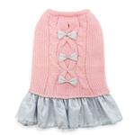 View Image 1 of Party Princess Dog Dress by Dogo - Pink
