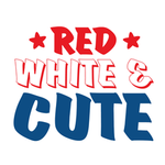 View Image 2 of Red, White & Cute Dog Shirt - White