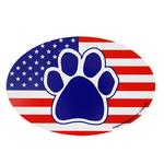 View Image 1 of Patriotic Paw Oval Magnet