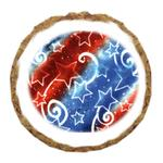 View Image 1 of Patriotic Stars Dog Treat Cookie