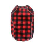 View Image 1 of Cloak & Dawggie Stretch Fleece Dog Sweater - Red Buffalo