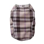 View Image 1 of Cloak & Dawggie Stretch Fleece Dog Sweater - Tan Plaid