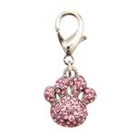 View Image 1 of Pave Paw D-Ring Pet Collar Charm by foufou Dog - Pink