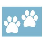 View Image 2 of Paw Shaped Car Window Decal