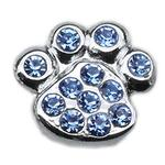 View Image 1 of Paw Slider Dog Collar Charm - Blue