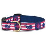 View Image 1 of Whale Stripe Dog Collar by Up Country
