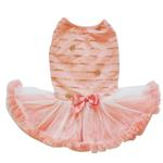 View Image 1 of Peach Star Sequin Dog Petti Dress By Pawpatu