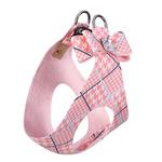 View Image 2 of Peaches & Cream Glen Houndstooth Big Bow Step-In Dog Harness by Susan Lanci