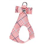 View Image 1 of Peaches & Cream Glen Houndstooth Big Bow Step-In Dog Harness by Susan Lanci