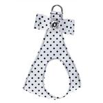 View Image 1 of Polka Dot Big Bow Step-In Dog Harness by Susan Lanci - Black & White