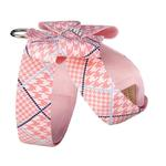 View Image 2 of Peaches & Cream Glen Houndstooth Nouveau Bow Tinkie Dog Harness by Susan Lanci