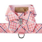 View Image 1 of Peaches & Cream Glen Houndstooth Nouveau Bow Tinkie Dog Harness by Susan Lanci
