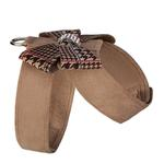 View Image 2 of Chocolate Glen Houndstooth Nouveau Bow Tinkie Dog Harness by Susan Lanci - Fawn