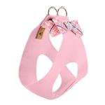 View Image 2 of Peaches & Cream Glen Houndstooth Big Bow Step-In Dog Harness by Susan Lanci - Puppy Pink