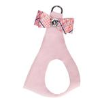 View Image 1 of Peaches & Cream Glen Houndstooth Big Bow Step-In Dog Harness by Susan Lanci - Puppy Pink