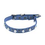 View Image 1 of Pearl & Crystal Safety Cat Collar - Baby Blue