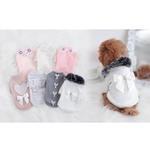 View Image 4 of Pearl Heart Dog Sweater by Hello Doggie - Pink