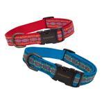 View Image 2 of Pendleton Pet Diamond River Dog Collar - Scarlet