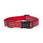 View Image 1 of Pendleton Pet Diamond River Dog Collar - Scarlet