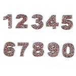 View Image 1 of Personalized Pink Crystal Numbers - 0-9
