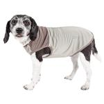 View Image 1 of Pet Life ACTIVE 'Aero-Pawlse' Performance Dog Tank Top - Tan and Brown