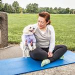 View Image 9 of Pet Life ACTIVE 'Barko Pawlo' Performance Dog Polo - Lavender