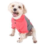 View Image 3 of Pet Life ACTIVE 'Barko Pawlo' Performance Dog Polo - Salmon Red and Gray