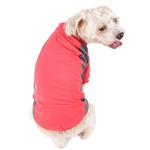View Image 2 of Pet Life ACTIVE 'Barko Pawlo' Performance Dog Polo - Salmon Red and Gray
