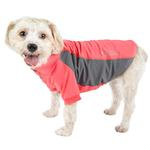 View Image 1 of Pet Life ACTIVE 'Barko Pawlo' Performance Dog Polo - Salmon Red and Gray