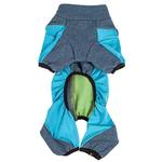 View Image 5 of Pet Life ACTIVE 'Chase Pacer' Performance Full Body Dog Warm Up - Blue and Turquoise