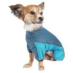 View Image 2 of Pet Life ACTIVE 'Chase Pacer' Performance Full Body Dog Warm Up - Blue and Turquoise