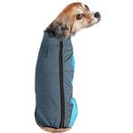 View Image 3 of Pet Life ACTIVE 'Chase Pacer' Performance Full Body Dog Warm Up - Blue and Turquoise